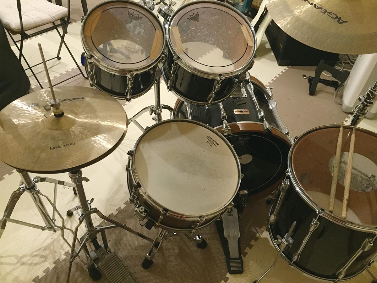 筑紫野音楽スタジオ2KOスタジオのドラムセットはYAMAHA YD-9000
