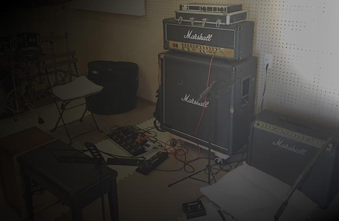 小郡津古2KOスタジオのギターレッスンドラムレッスン